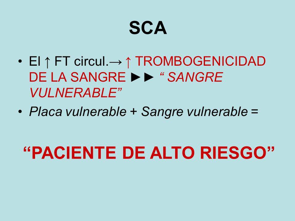 SCA PACIENTE DE ALTO RIESGO