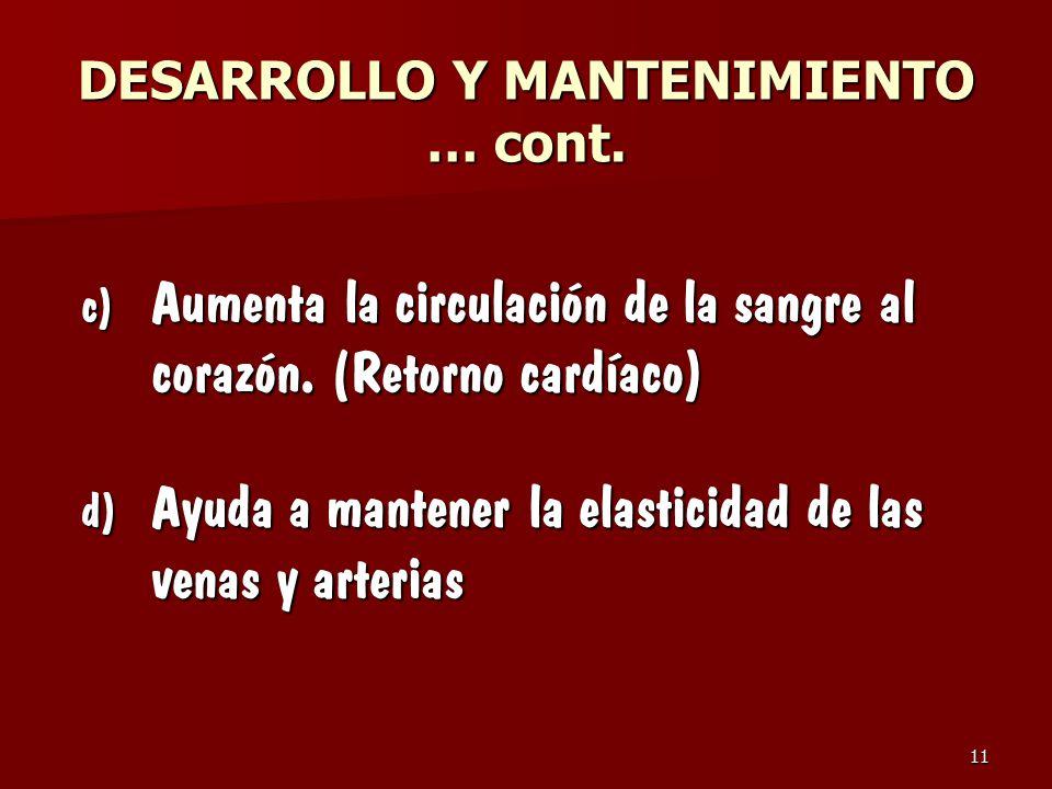 DESARROLLO Y MANTENIMIENTO … cont.
