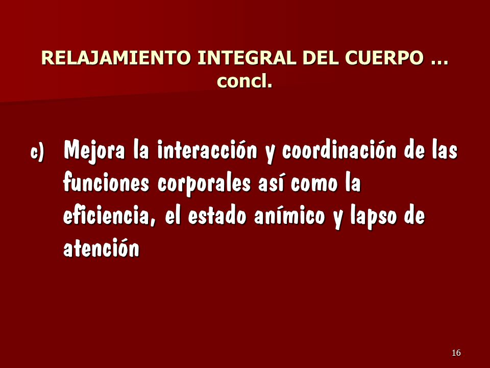 RELAJAMIENTO INTEGRAL DEL CUERPO … concl.