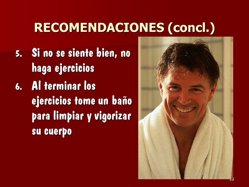 RECOMENDACIONES (concl.)
