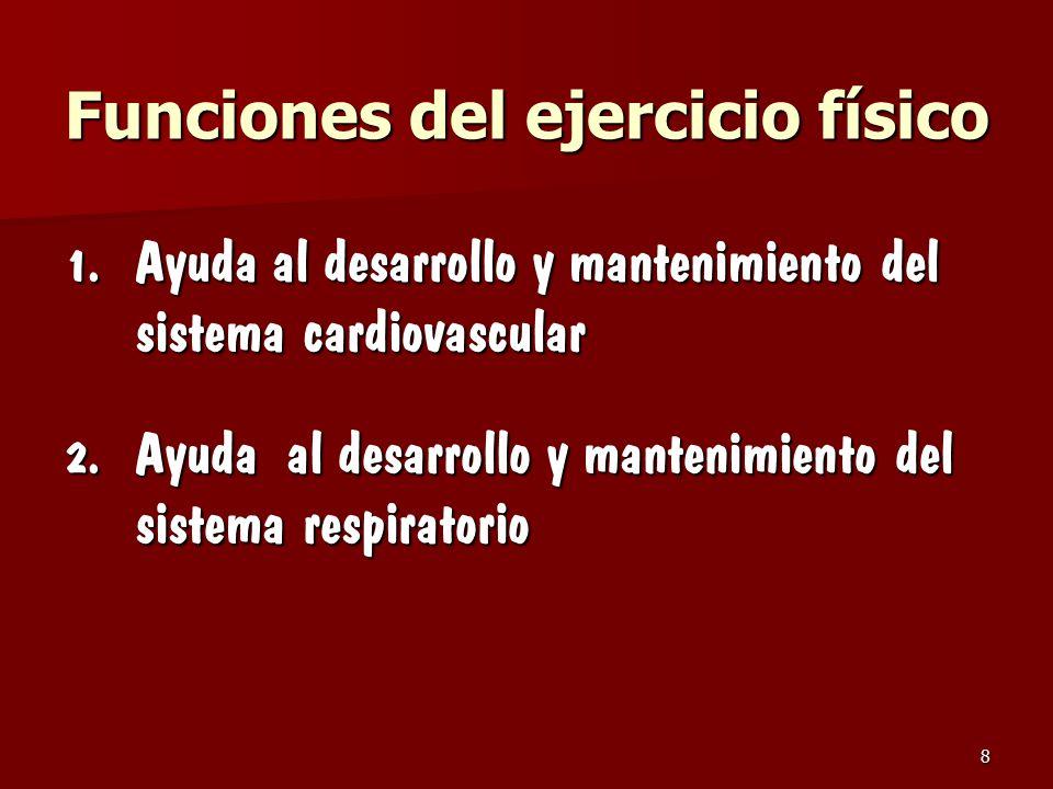 Funciones del ejercicio físico