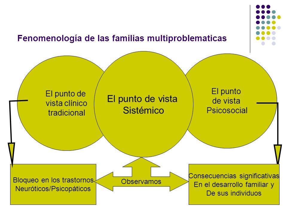 Fenomenología de las familias multiproblematicas
