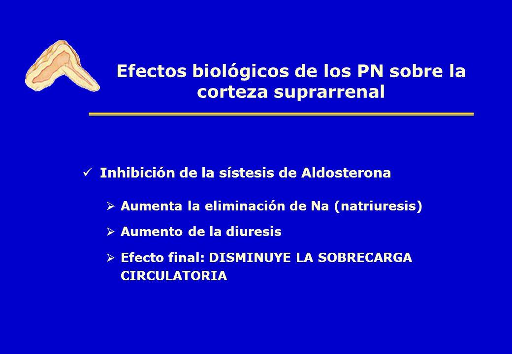 Efectos biológicos de los PN sobre la corteza suprarrenal