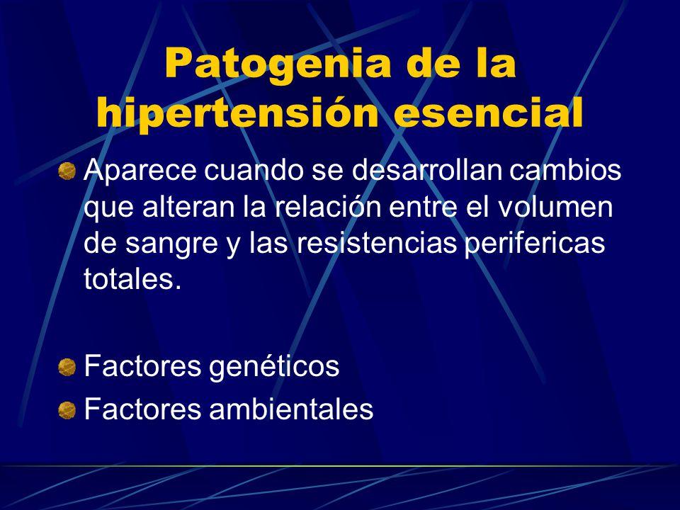 Patogenia de la hipertensión esencial