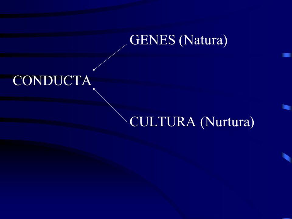 GENES (Natura) CONDUCTA CULTURA (Nurtura)