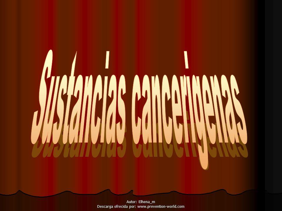 Sustancias cancerigenas