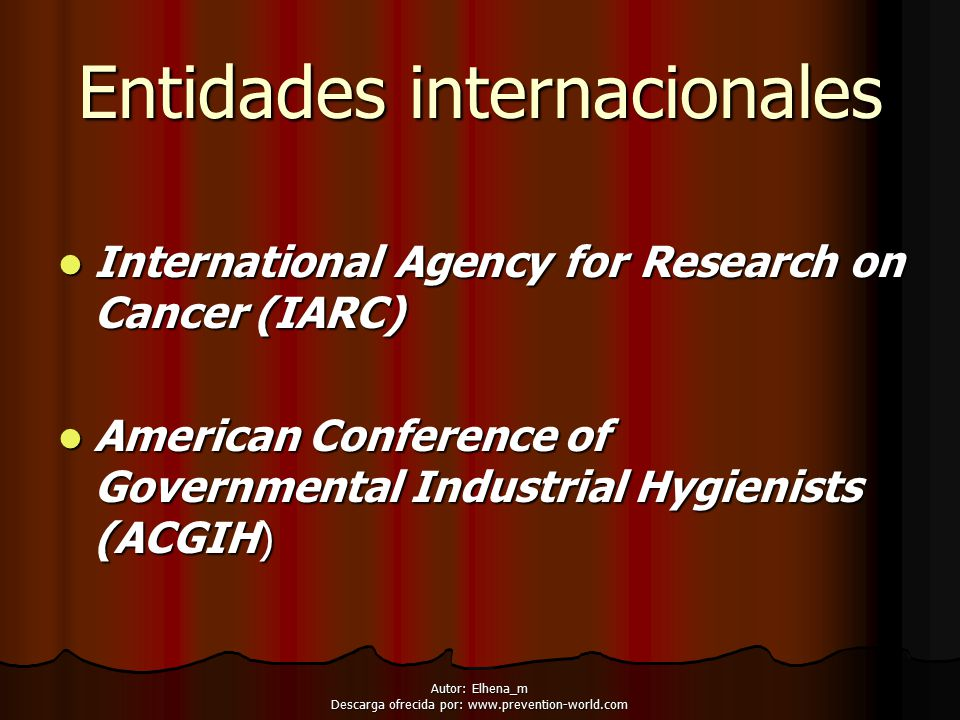Entidades internacionales