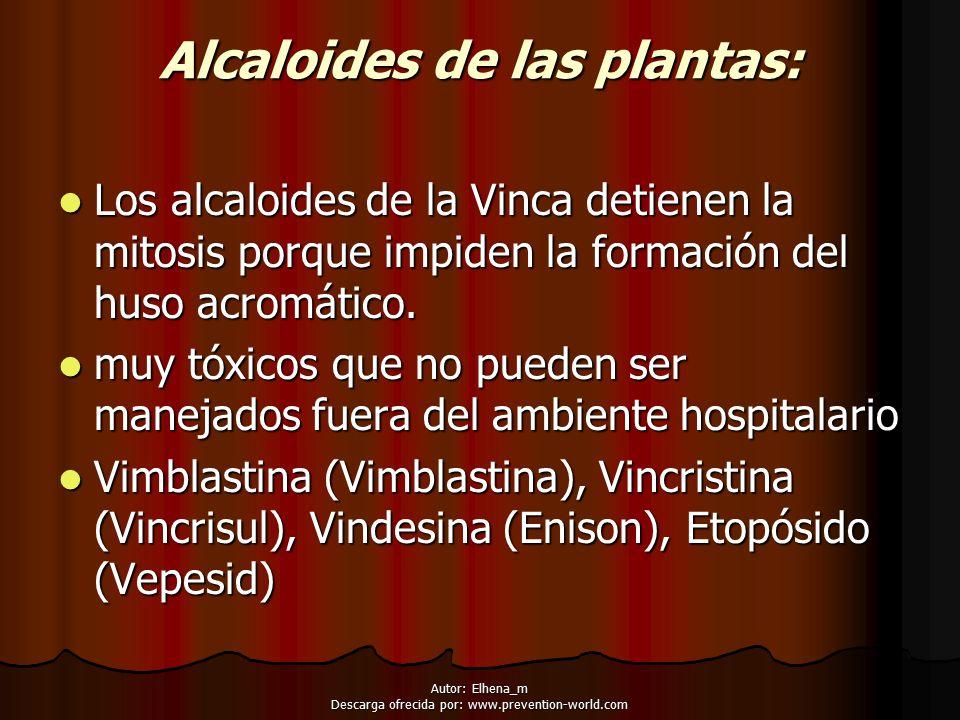 Alcaloides de las plantas: