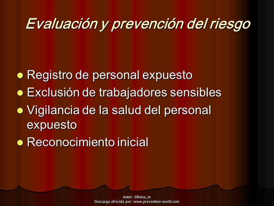 Evaluación y prevención del riesgo