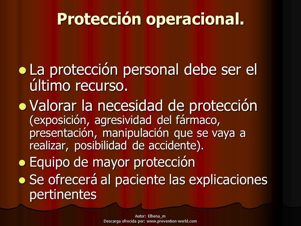 Protección operacional.
