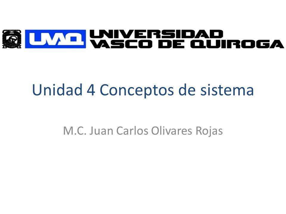 Unidad 4 Conceptos de sistema