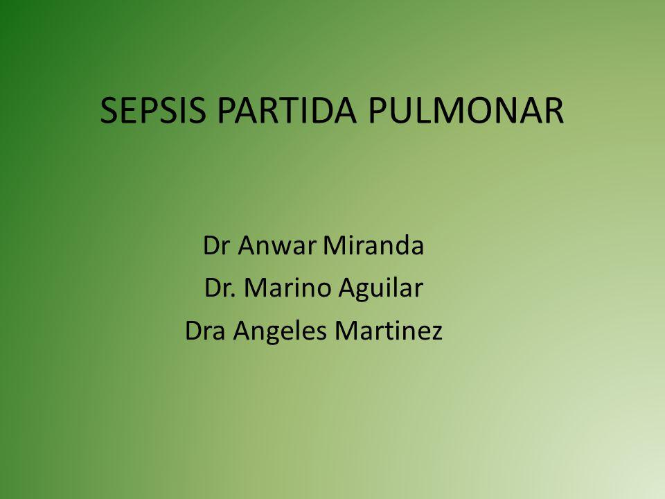 SEPSIS PARTIDA PULMONAR