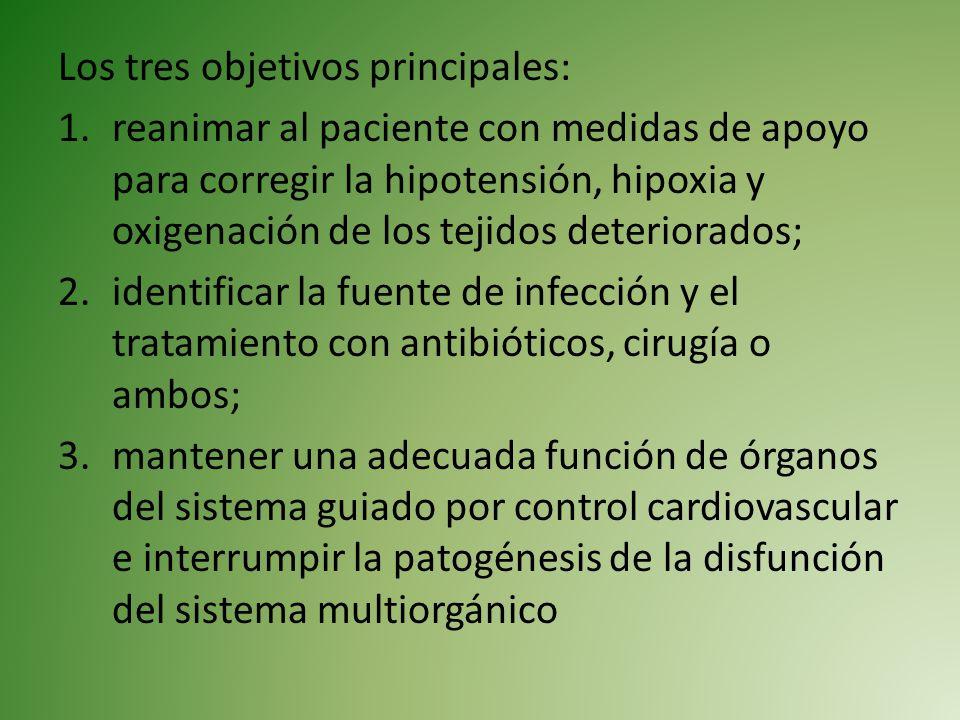 Los tres objetivos principales:
