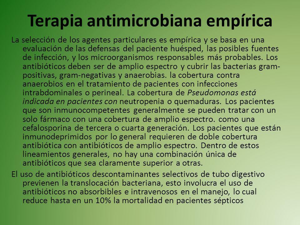 Terapia antimicrobiana empírica