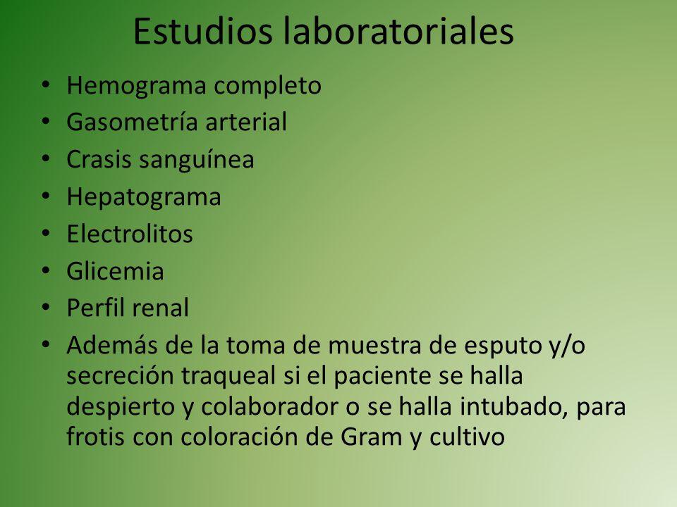 Estudios laboratoriales