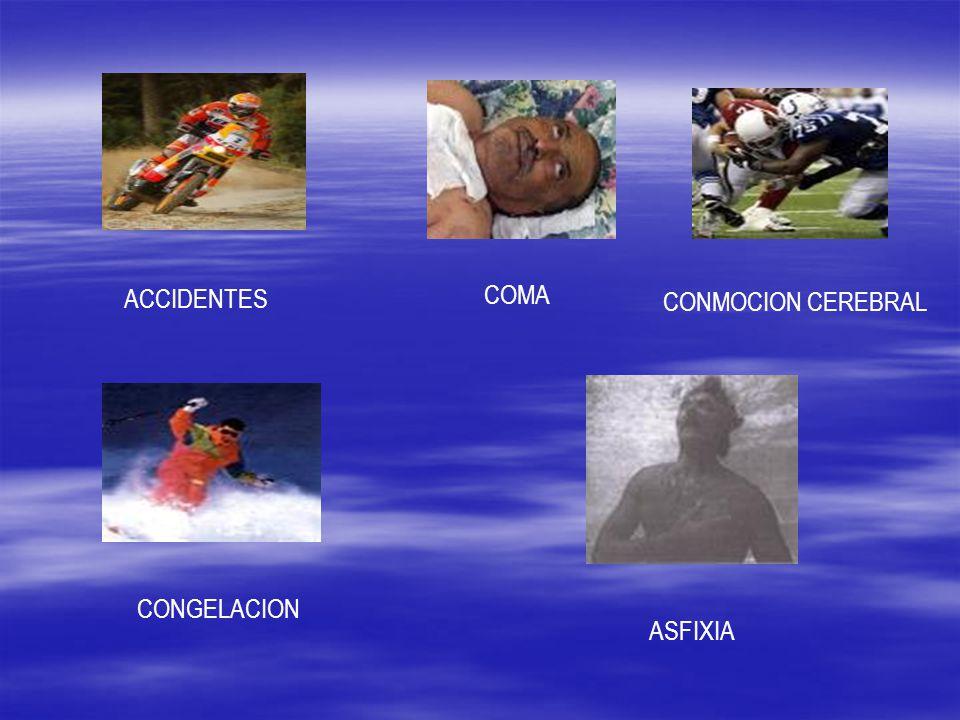 ACCIDENTES COMA CONMOCION CEREBRAL CONGELACION ASFIXIA