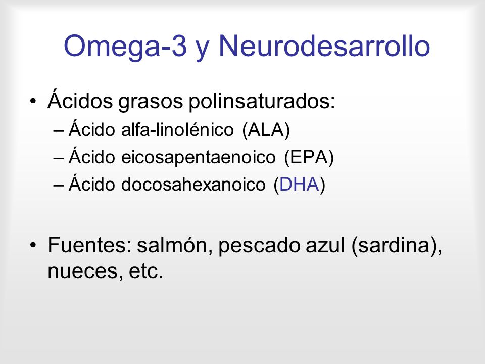 Omega-3 y Neurodesarrollo