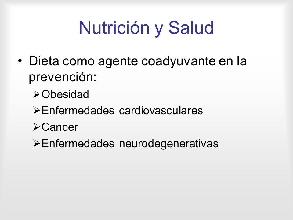 Nutrición y Salud Dieta como agente coadyuvante en la prevención: