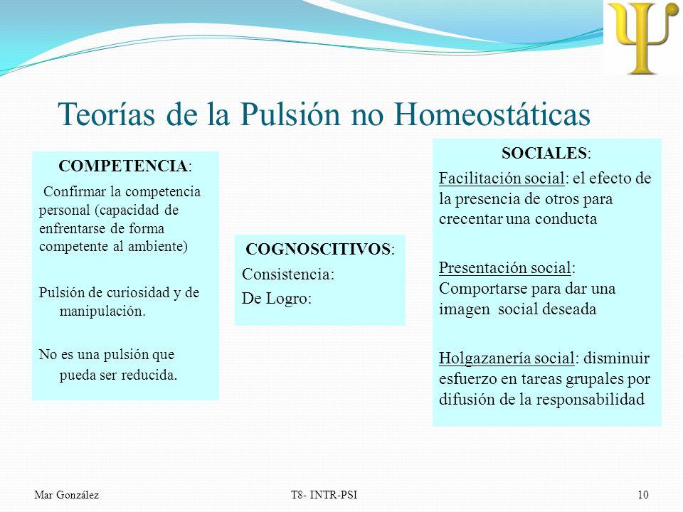Teorías de la Pulsión no Homeostáticas
