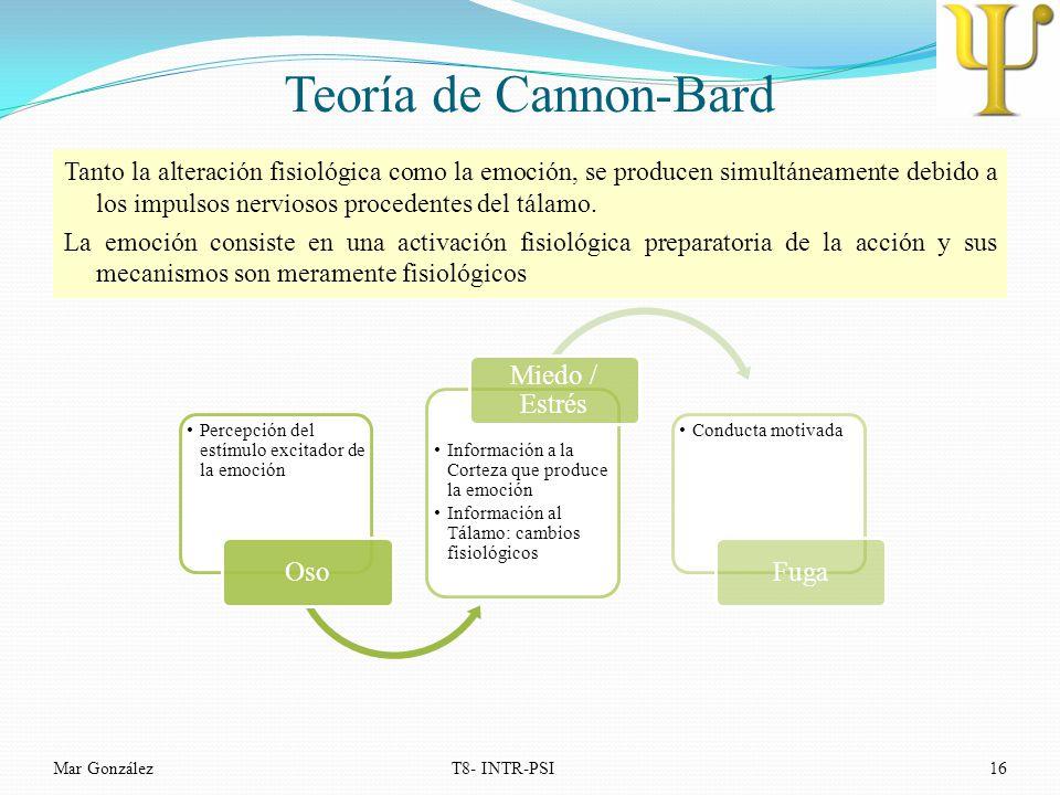 Teoría de Cannon-Bard Oso Miedo / Estrés Fuga