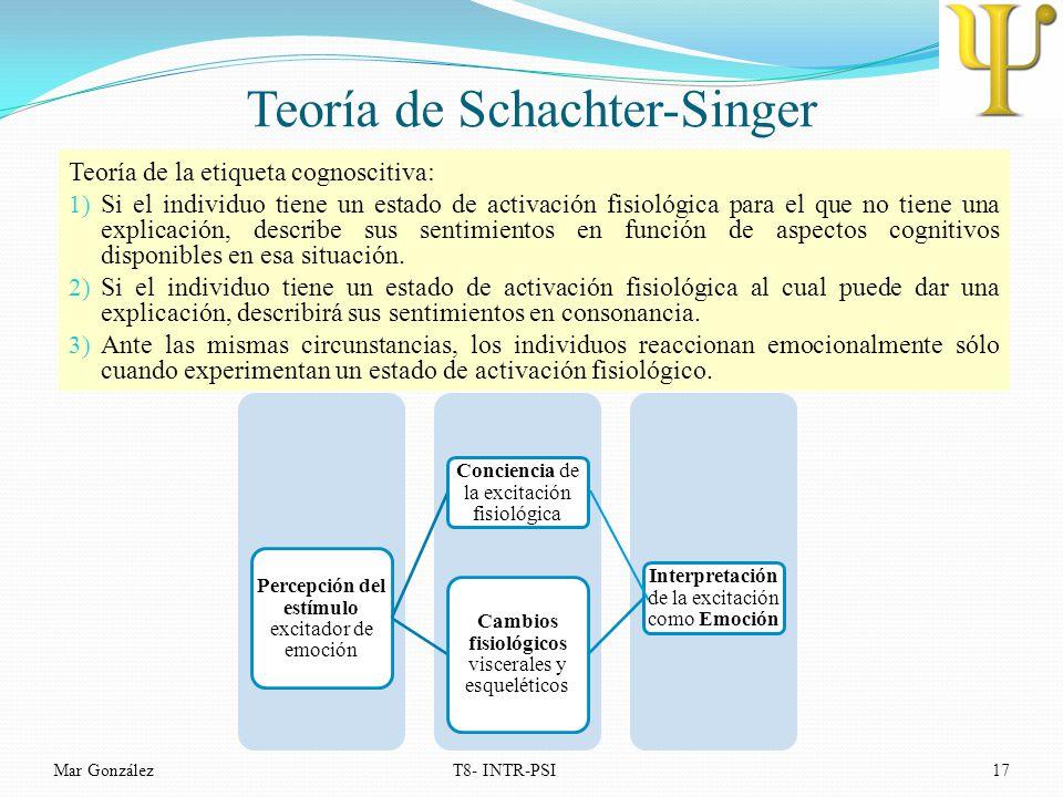 Teoría de Schachter-Singer