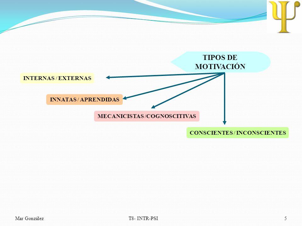 MECANICISTAS /COGNOSCITIVAS CONSCIENTES / INCONSCIENTES