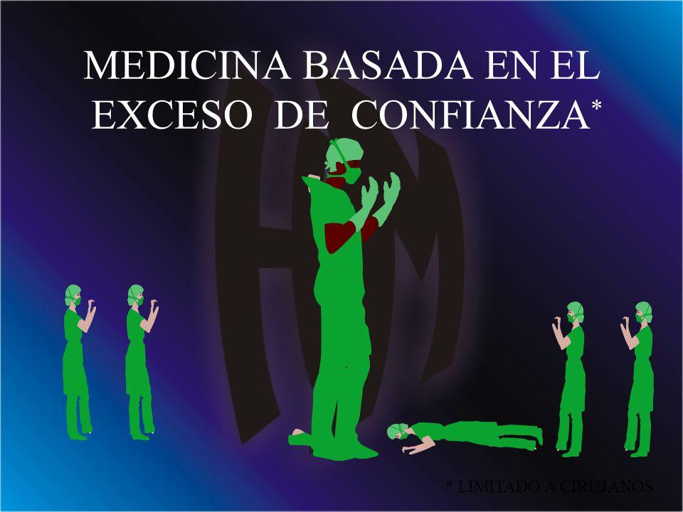 MEDICINA BASADA EN EL EXCESO DE CONFIANZA*