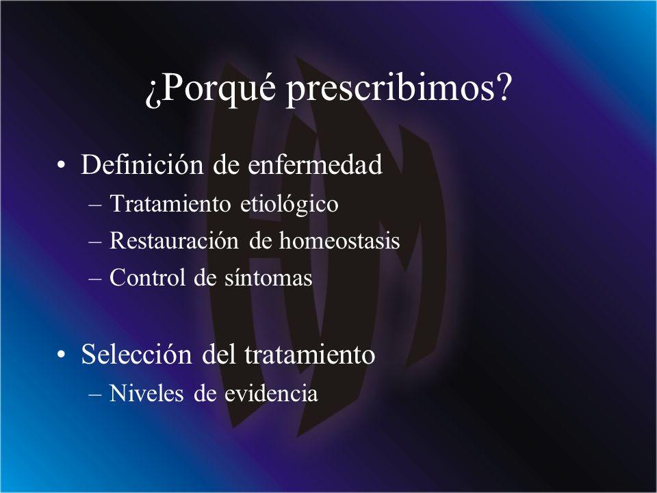 ¿Porqué prescribimos Definición de enfermedad