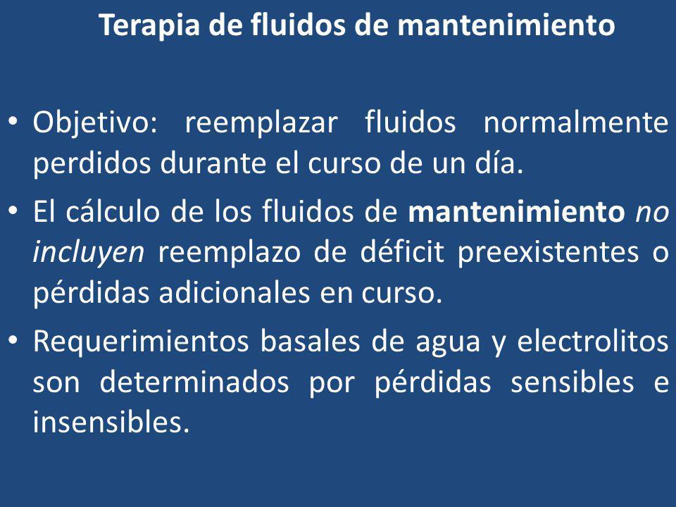 Terapia de fluidos de mantenimiento