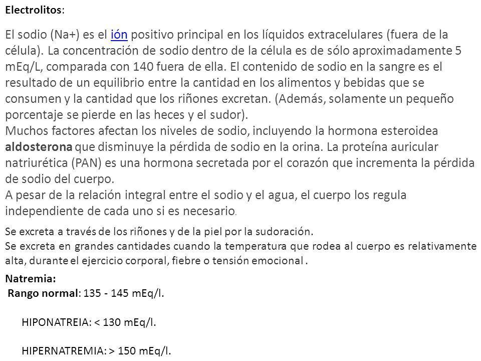 Electrolitos:
