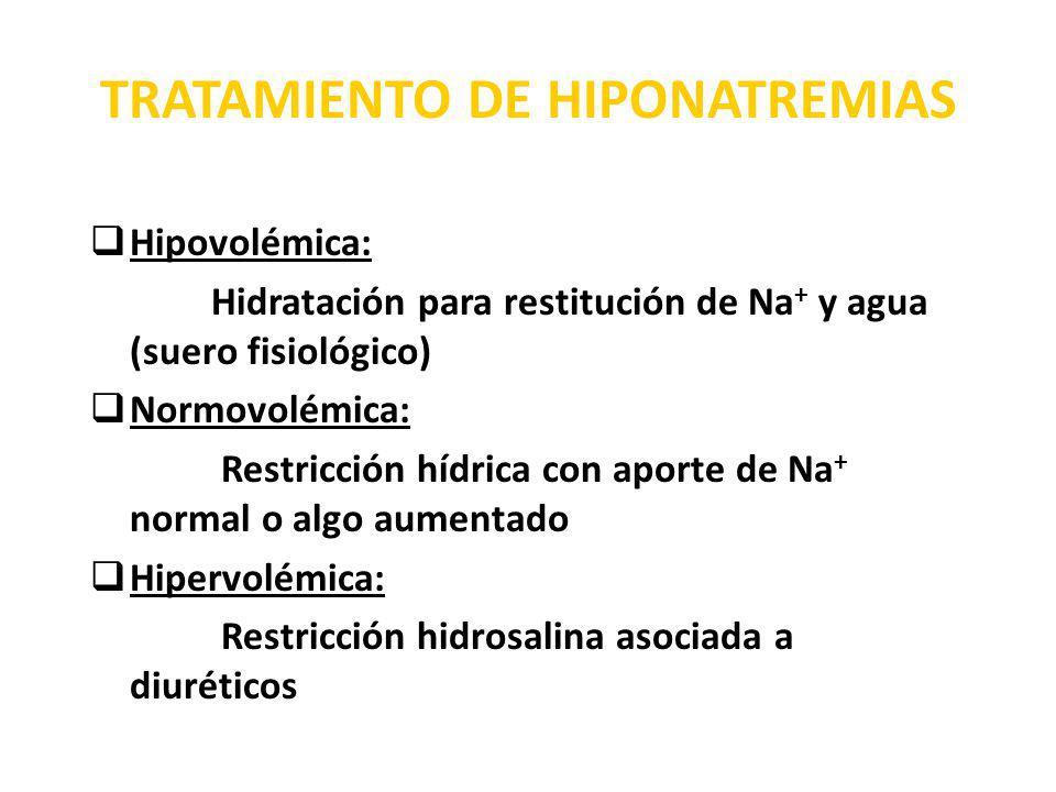 TRATAMIENTO DE HIPONATREMIAS