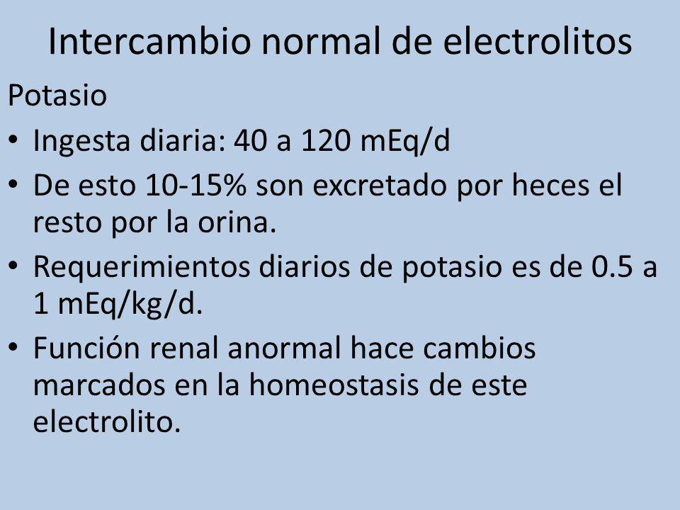 Intercambio normal de electrolitos