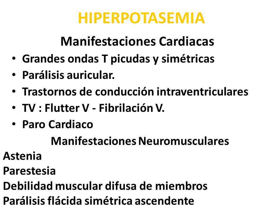 Manifestaciones Cardiacas Manifestaciones Neuromusculares