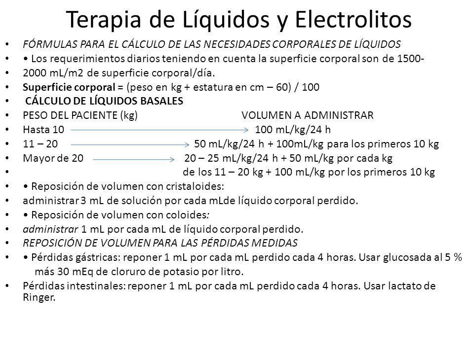 Terapia de Líquidos y Electrolitos