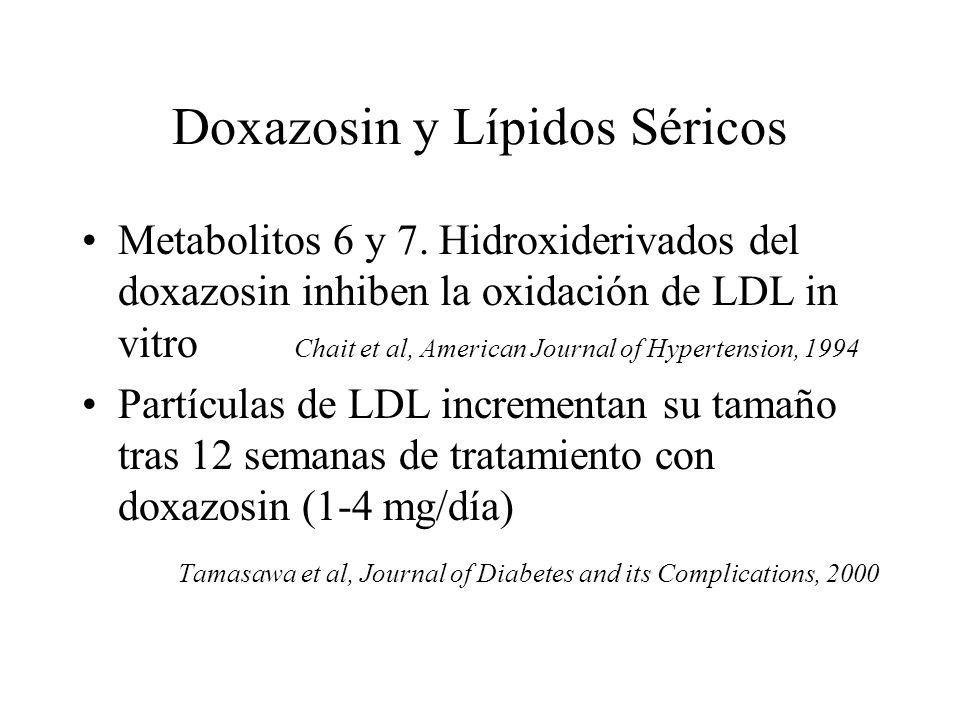 Doxazosin y Lípidos Séricos
