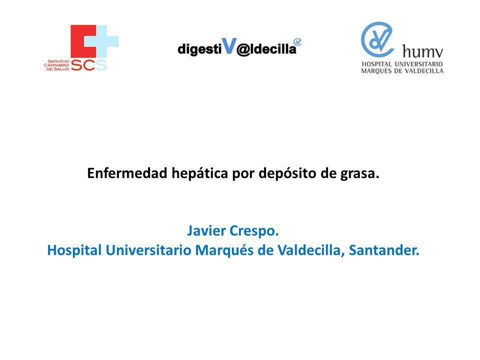 Enfermedad hepática por depósito de grasa.