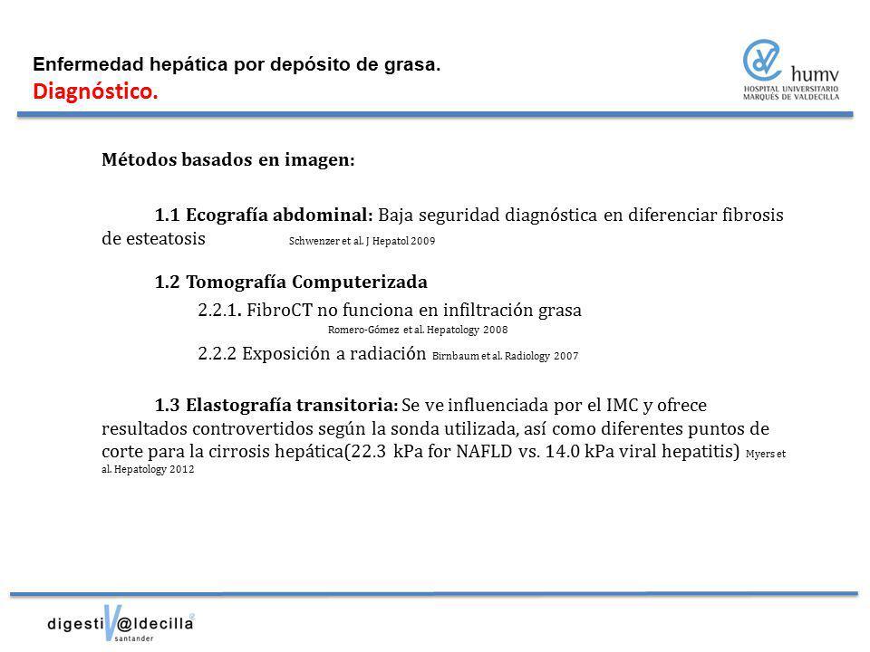 Diagnóstico. Enfermedad hepática por depósito de grasa.