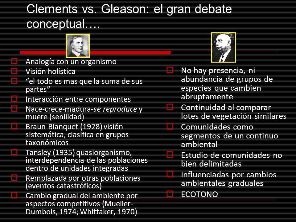 Clements vs. Gleason: el gran debate conceptual….