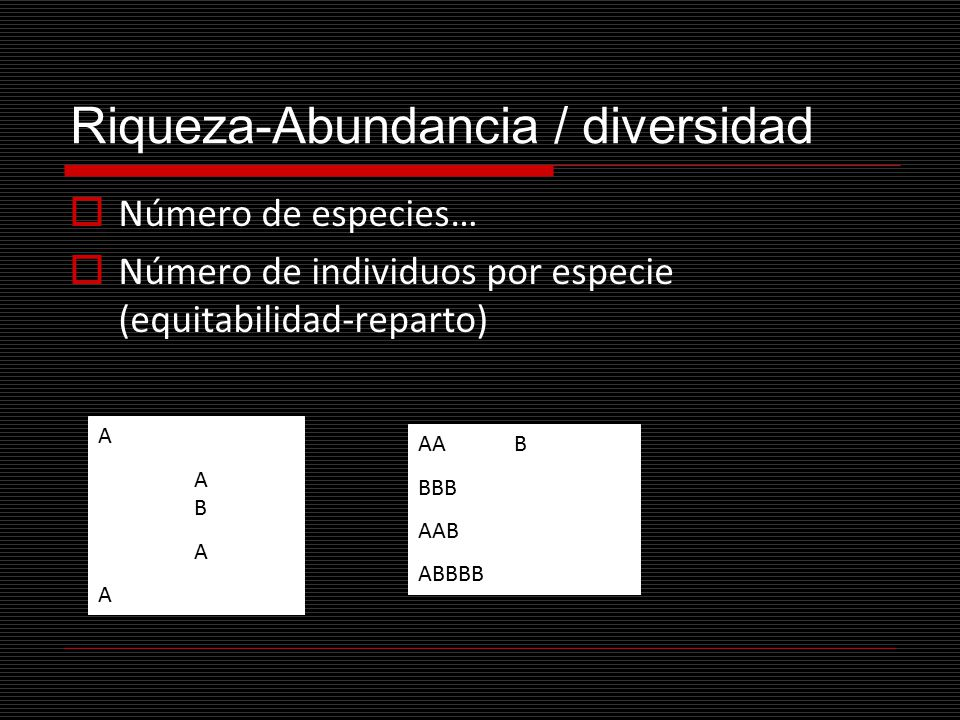 Riqueza-Abundancia / diversidad