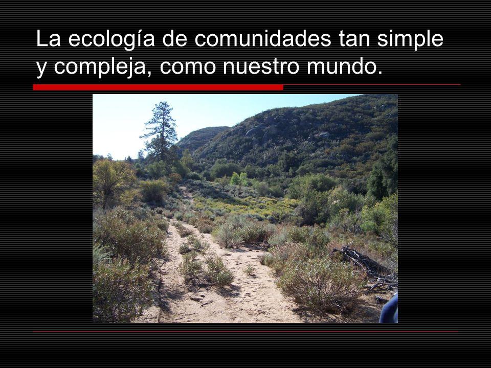 La ecología de comunidades tan simple y compleja, como nuestro mundo.