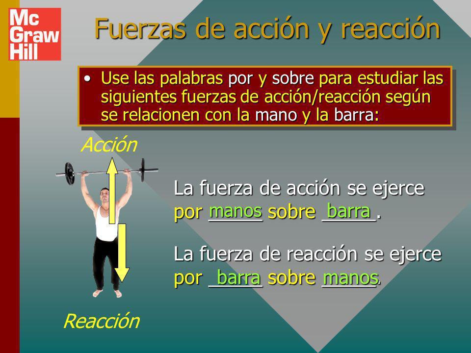 Fuerzas de acción y reacción