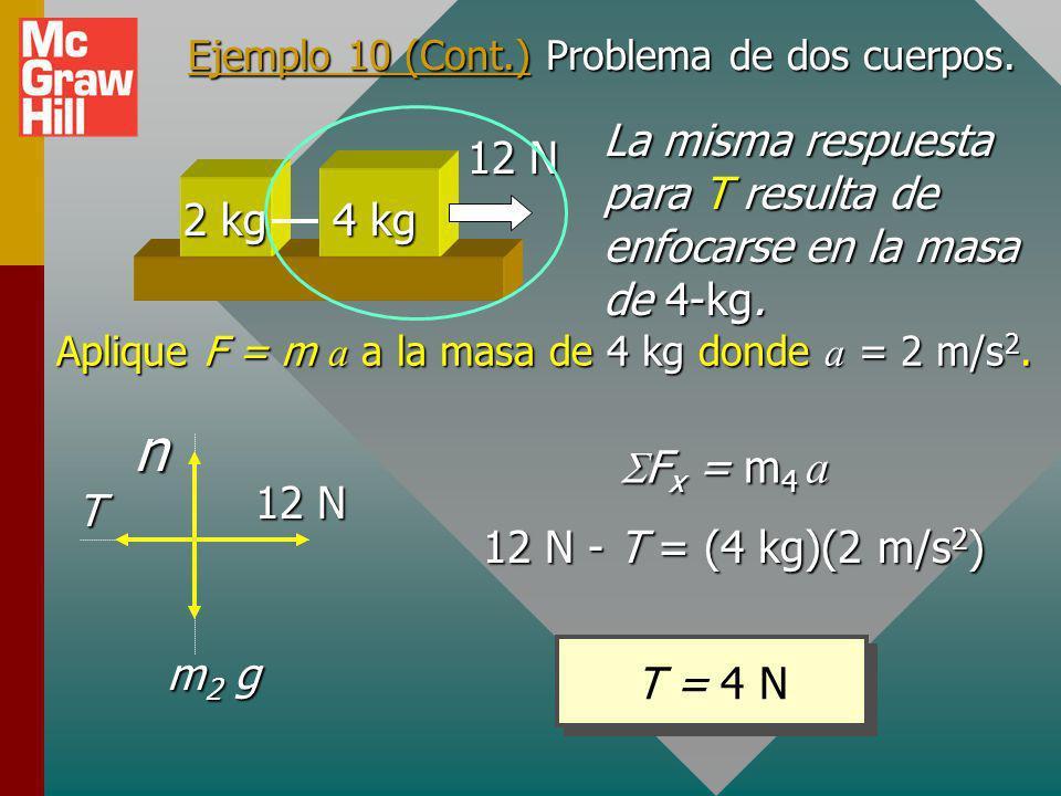 Ejemplo 10 (Cont.) Problema de dos cuerpos.