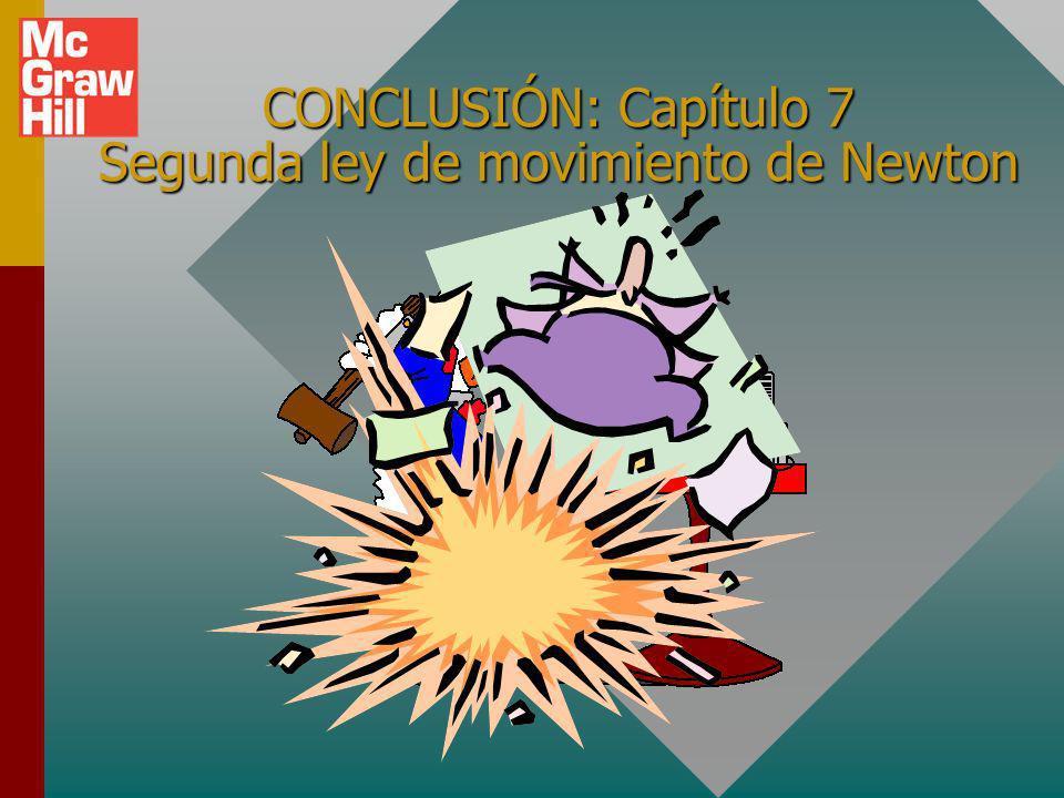 CONCLUSIÓN: Capítulo 7 Segunda ley de movimiento de Newton
