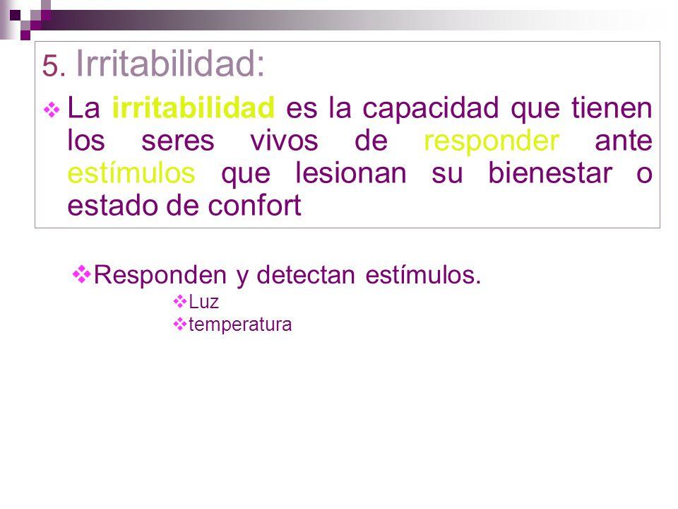 5. Irritabilidad: