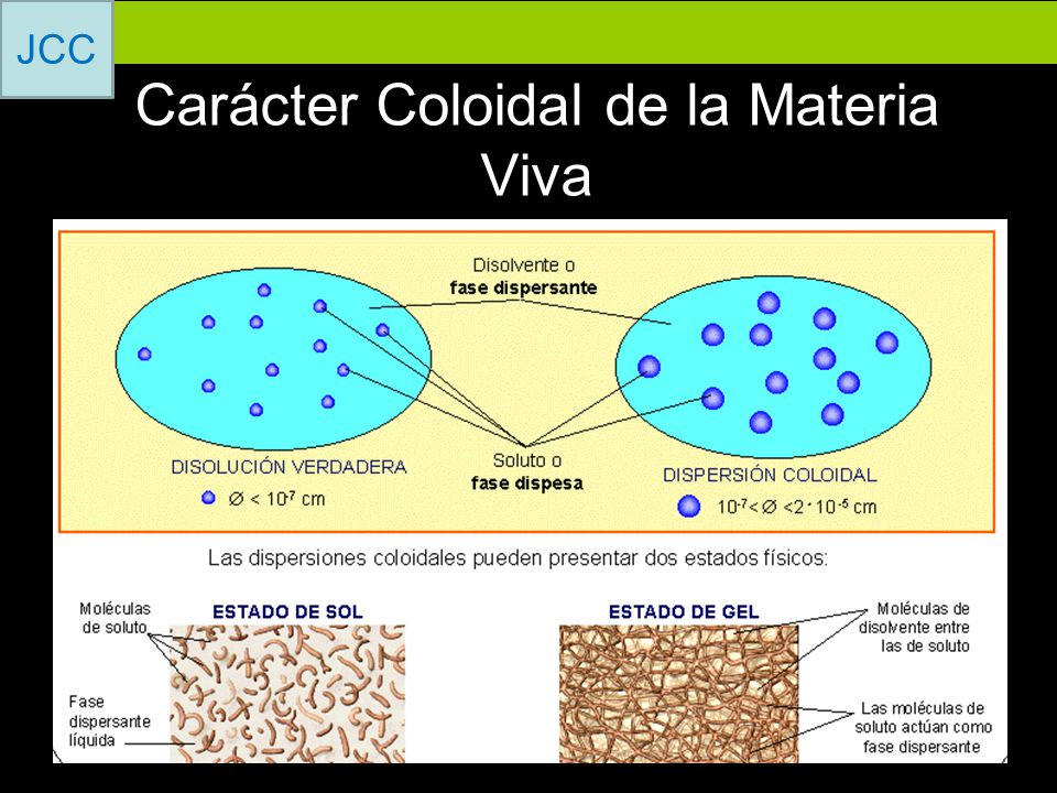 Carácter Coloidal de la Materia Viva