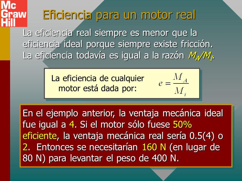 Eficiencia para un motor real
