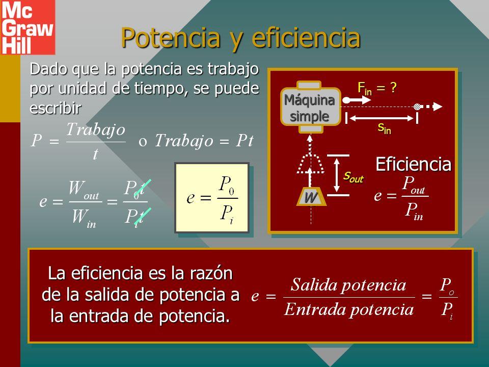 Potencia y eficiencia Eficiencia