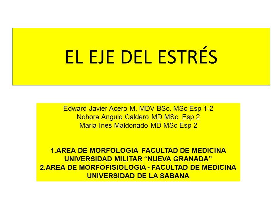 EL EJE DEL ESTRÉS Edward Javier Acero M. MDV BSc. MSc Esp 1-2