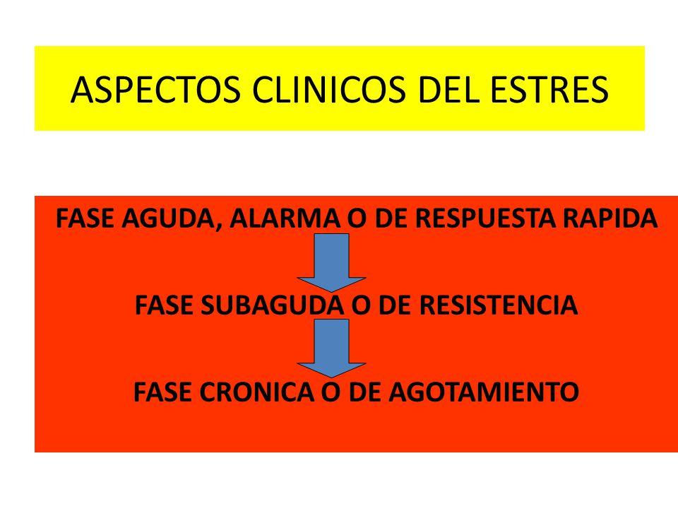 ASPECTOS CLINICOS DEL ESTRES