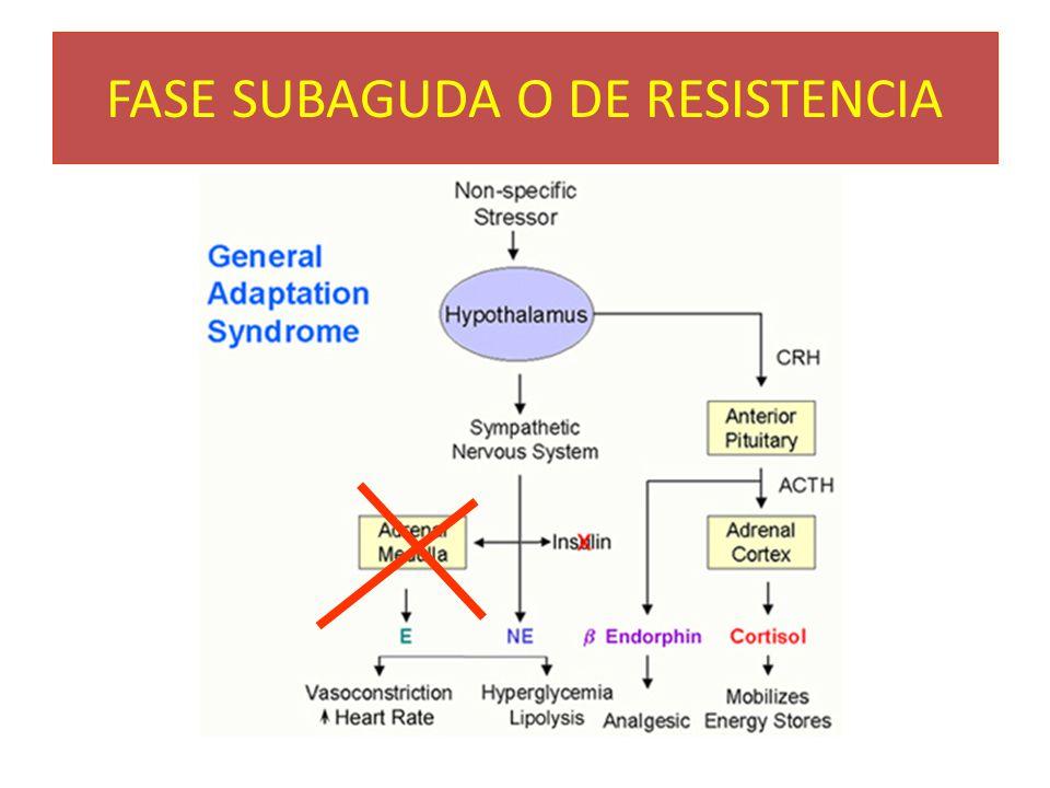 FASE SUBAGUDA O DE RESISTENCIA